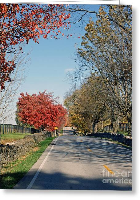 Bourbon County Fall Greeting Card by Roger Potts