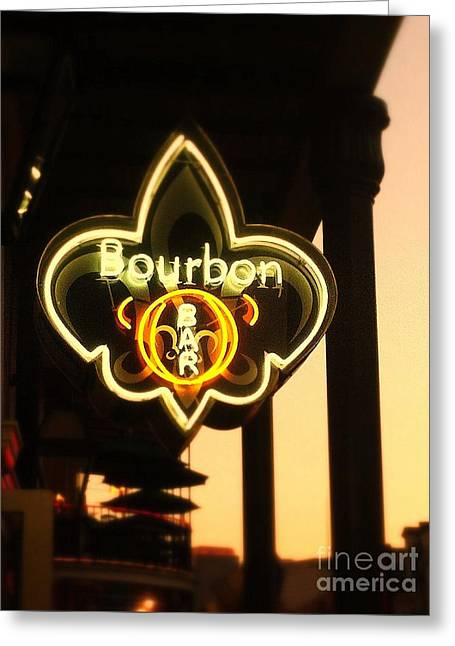 Bourbon Street Bar New Orleans Greeting Card