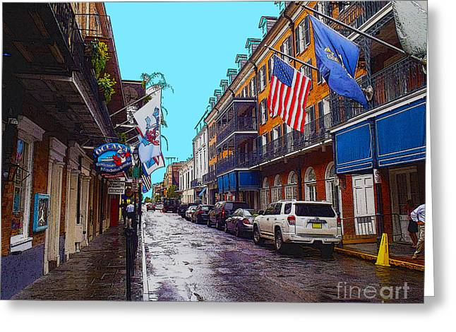 Bourbon Street Greeting Card by Carey Chen