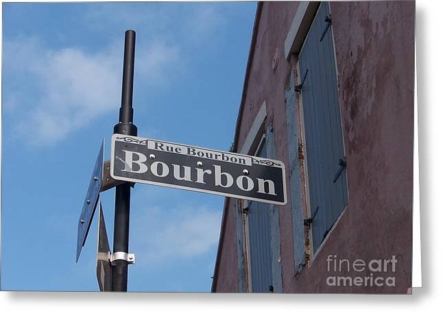 Bourbon Street Greeting Card by Kevin Croitz