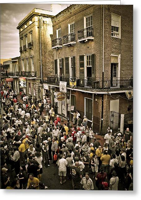 Bourbon Street Party Greeting Card by Ray Devlin