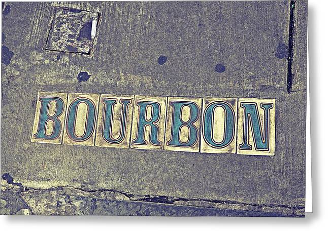 Bourbon Street Tiles Greeting Card
