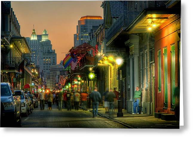 Bourbon Sunset Greeting Card by Ray Devlin