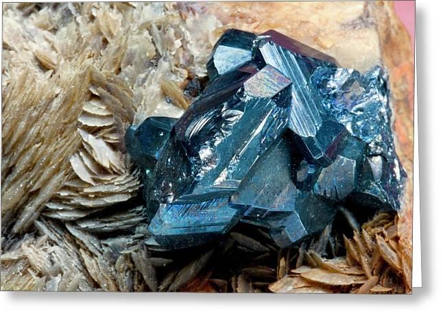 Bournonite On Gypsum Substrate I Greeting Card