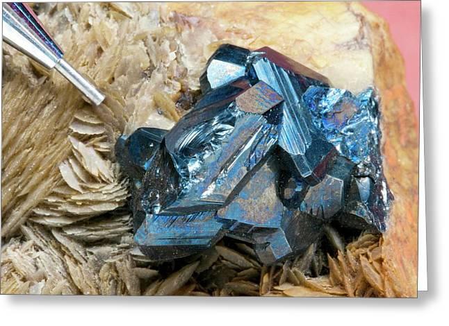 Bournonite On Gypsum Substrate II Greeting Card