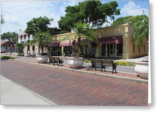 Boutiques In Tarpon Springs Greeting Card by Nancy Hopkins