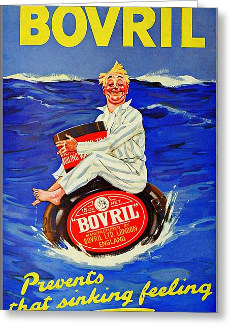 Bovril - Prevents That Sinking Feeling Greeting Card by Charlie Ross