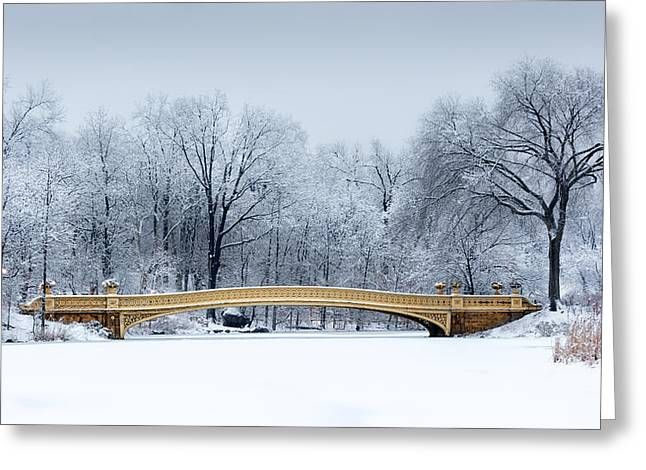 Bow Bridge In Central Park Nyc Greeting Card