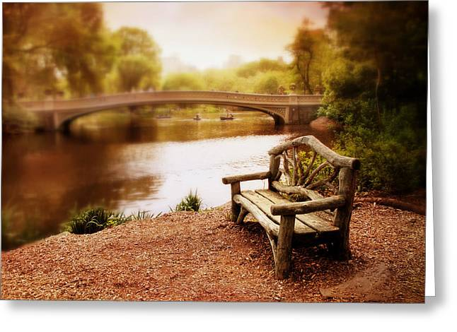 Bow Bridge Nostalgia 2 Greeting Card by Jessica Jenney
