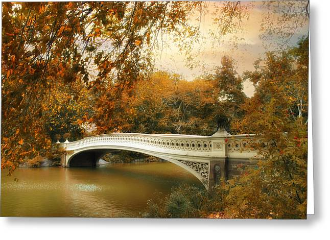 Bow Bridge October Greeting Card