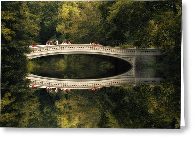 Bow Bridge Reflections Greeting Card by Jessica Jenney