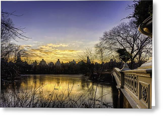Bow Bridge Sunrise Greeting Card