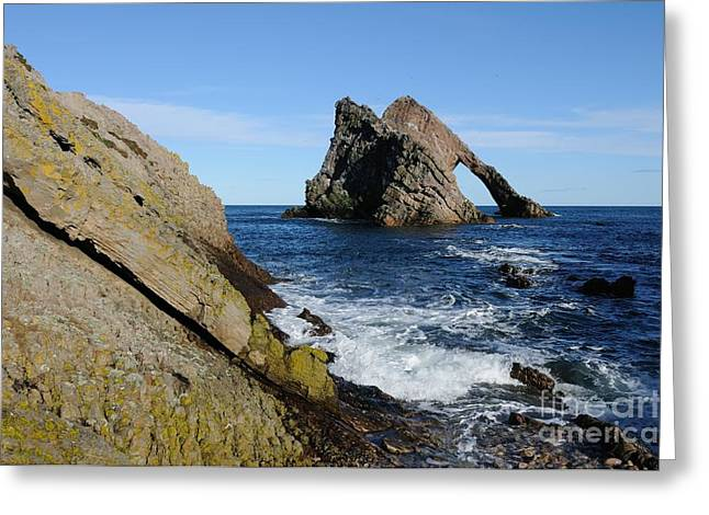 Bow Fiddle Rock In Scotland Greeting Card by John Kelly