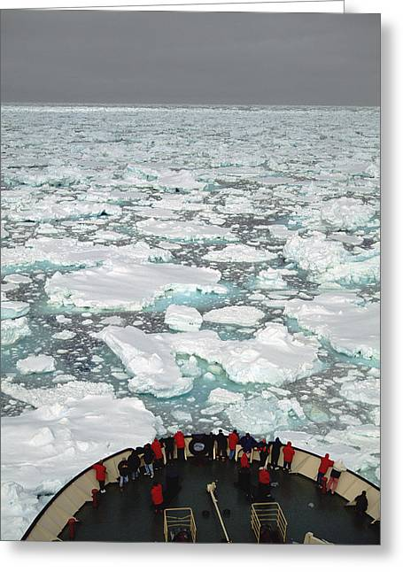 Bow Of Russian Icebreaker Ross Sea Greeting Card