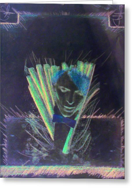 Bowie Greeting Card by Albert Puskaric
