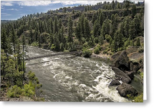 Bowl And Pitcher Area - Riverside State Park - Spokane Washington Greeting Card by Daniel Hagerman
