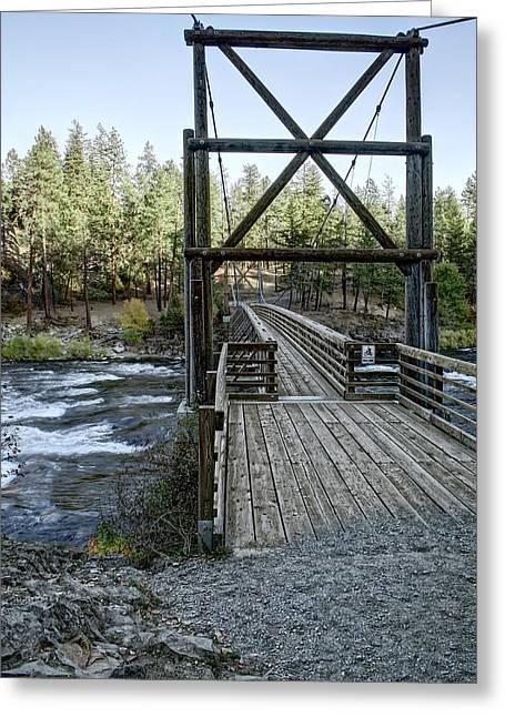 Bowl And Pitcher Bridge - Spokane Washington Greeting Card