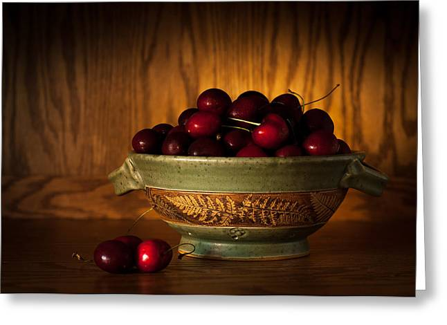 Greeting Card featuring the photograph Bowl Of Cherries by Wayne Meyer