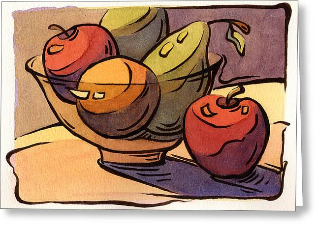 Bowl Of Fruit 8 Greeting Card