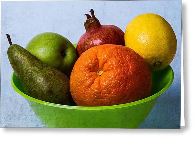 Bowl Of Fruits 2 Greeting Card