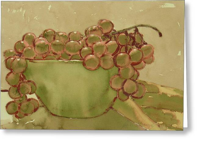 Bowl Of Grapes Greeting Card