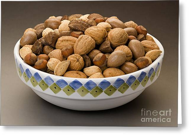 Bowl Of Mixed Nuts Greeting Card by Danny Smythe