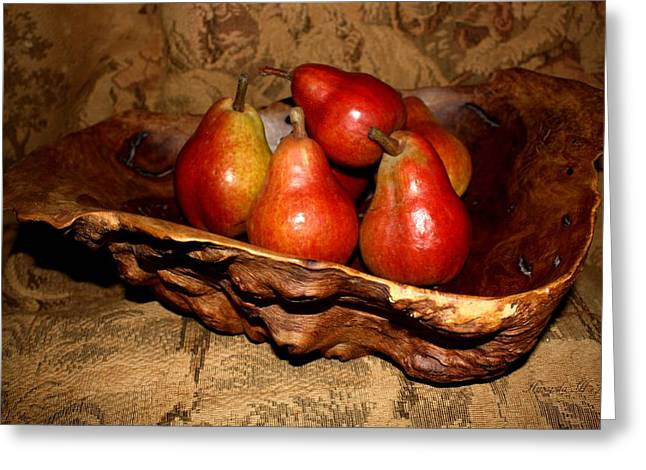 Bowl Of Pears - Still Life Greeting Card