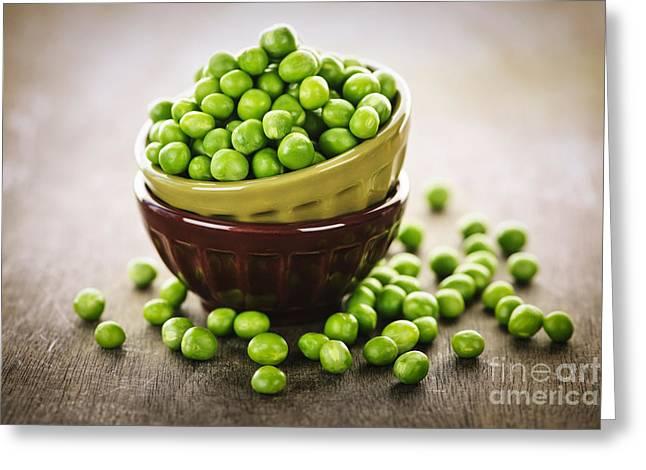 Bowl Of Peas Greeting Card