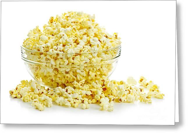 Bowl Of Popcorn Greeting Card