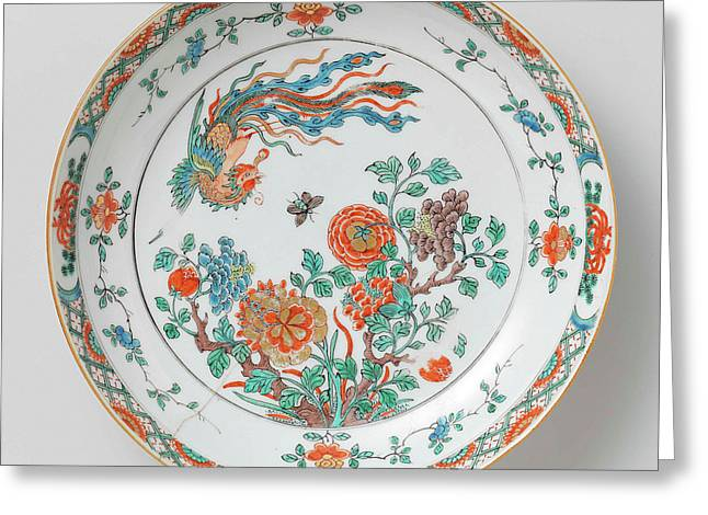Bowl With Decoration Of Flowering Branches Greeting Card by Litz Collection