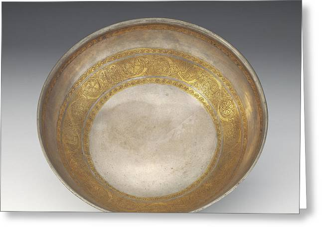 Bowl With Tendril Frieze Unknown Eastern Hellenistic Empire Greeting Card by Litz Collection
