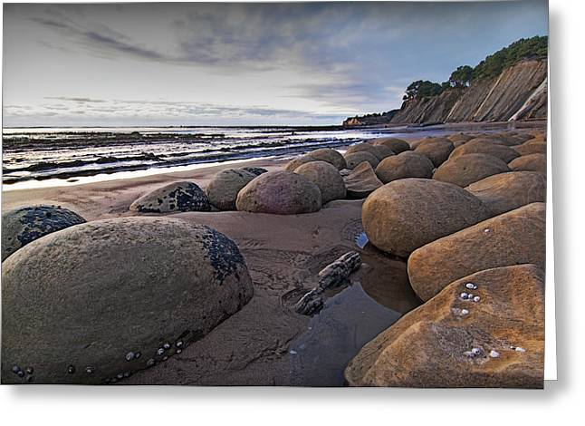 Bowling Ball Beach 3 Greeting Card by Ron Schwager
