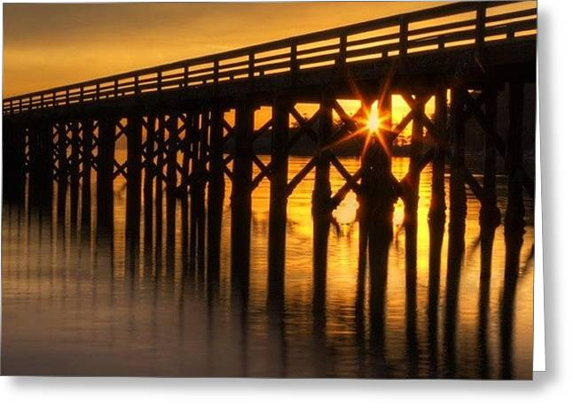 Bowman Bay Pier  #sunset Greeting Card