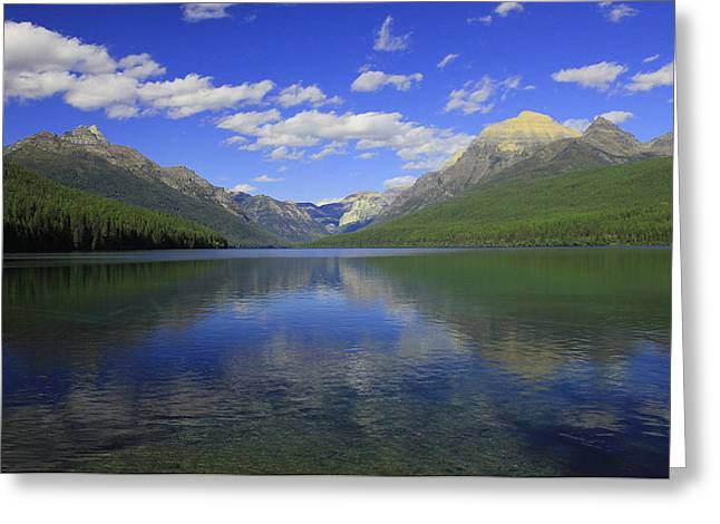 Greeting Card featuring the photograph Bowman Lake Montana by Kathleen Scanlan