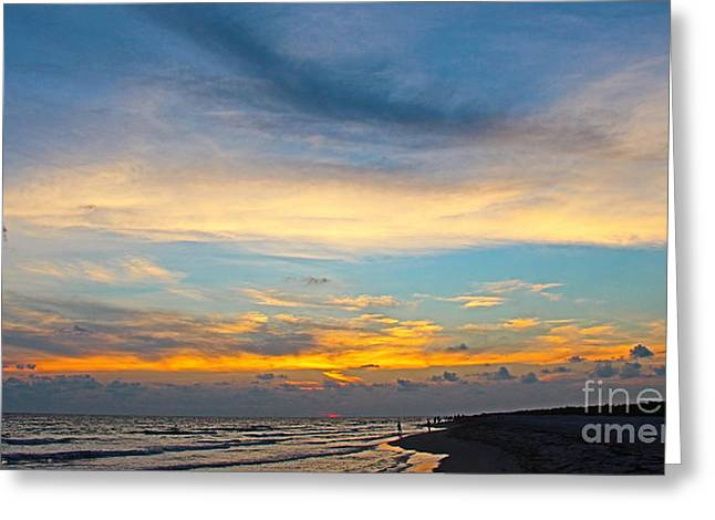 Bowman's Beach Sunset Greeting Card