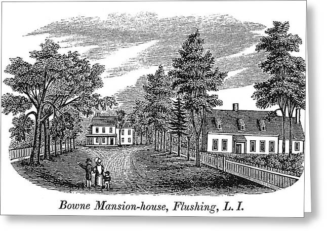 Bowne House, 1661 Greeting Card