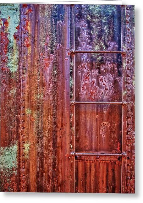 Boxcar Ladder Greeting Card by Marcia Colelli