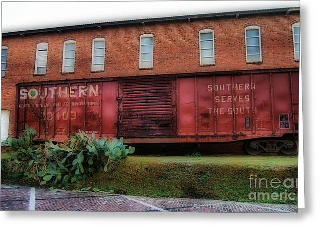 Boxcar Greeting Card by Skip Willits