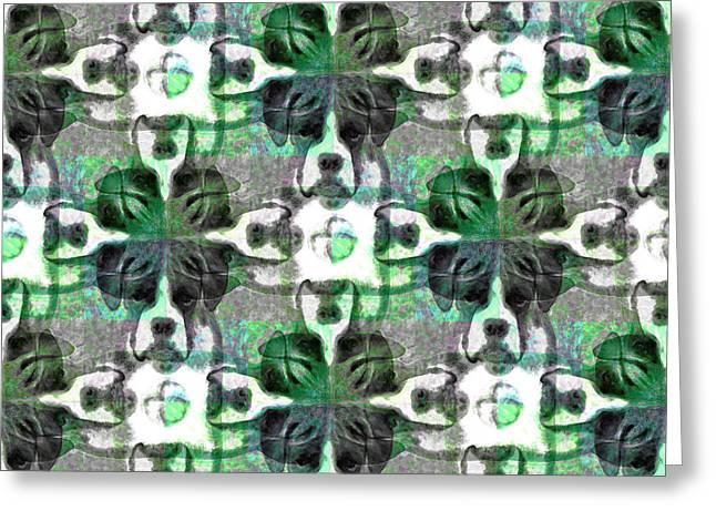 Boxer Abstract 20130126v2 Greeting Card