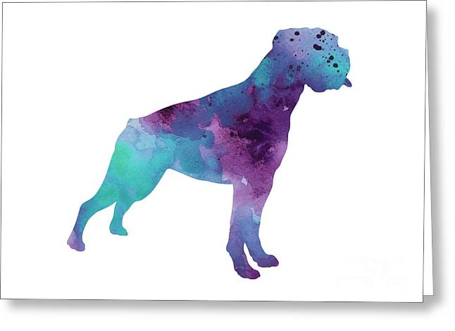 Boxer Dog Art Print Watercolor Painting Greeting Card