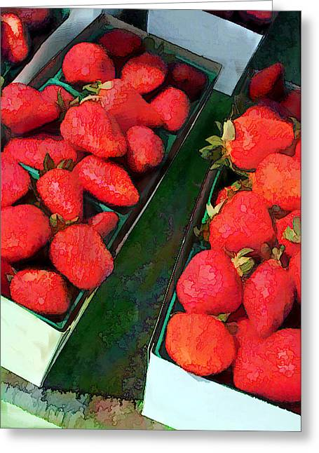 Boxes Of Bright Berries Greeting Card by Elaine Plesser