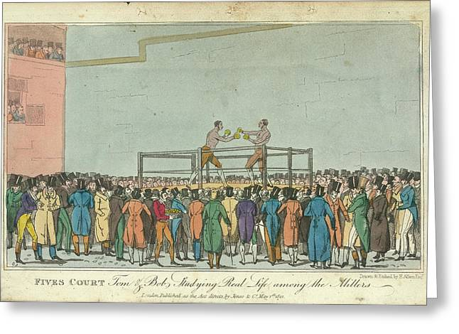 Boxing Greeting Card by British Library