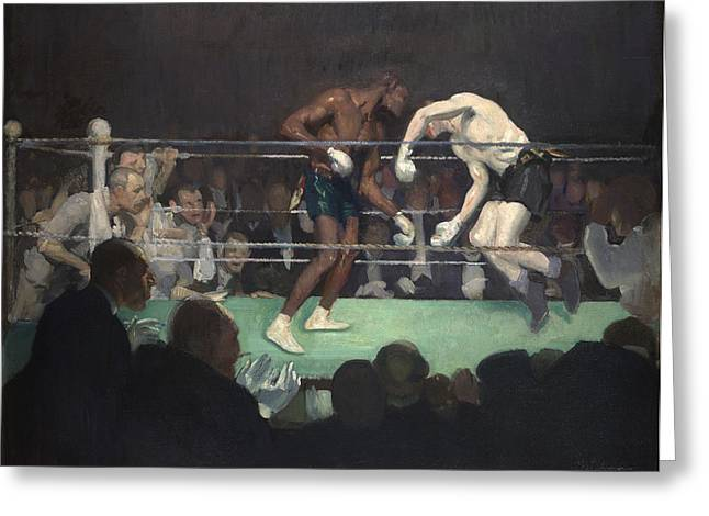 Boxing Match, 1910 Greeting Card