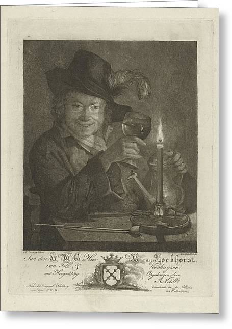 Boy Near Candlelight, Anna Kobell Greeting Card