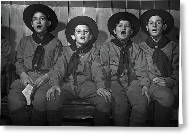 Boy Scouts, 1942 Greeting Card by Granger