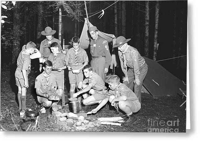 Boy Scouts Campout 1962 Ca Greeting Card