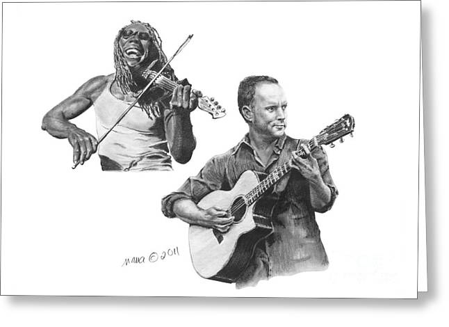 Boyd And Dave Greeting Card by Marianne NANA Betts