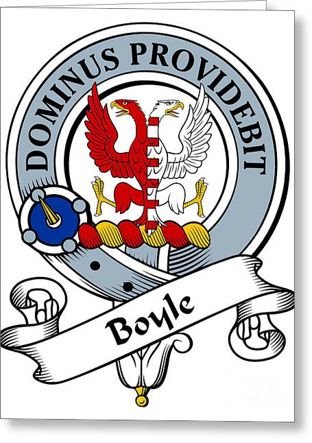 Boyle Clan Badge Greeting Card by Heraldry