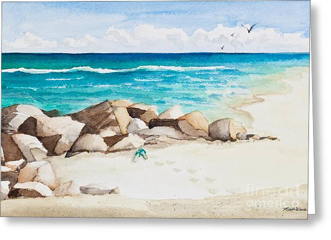 Boynton Beach Inlet Watercolor Greeting Card by Michelle Wiarda