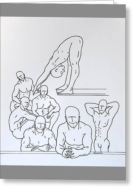 Boys At Play #5 Greeting Card